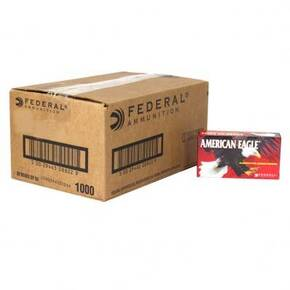 American Eagle Handgun Ammunition 9mm Luger 124 gr FMJ 1150 fps 1000/ct