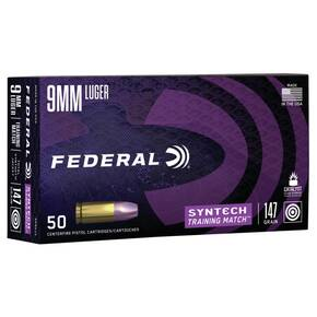 Federal Syntech Training Handgun Ammunition 9mm Luger 147 gr TSJ 1000 fps 50/ct