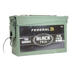 "Federal Balck Pack Shotshells  12ga 2 3/4"" #00 100/ct"