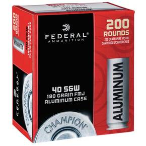 Federal Champion Aluminum Handgun Ammuntion .40 S&W 180gr FMJ 200/ct