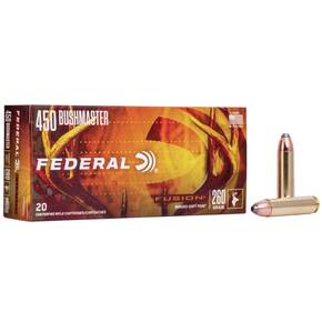 Federal Fusion Rifle Ammunition .450 Bushmaster 300 gr SP 2200 fps 20/ct