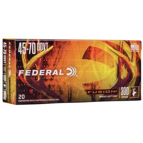 Federal Fusion Rifle Ammunition .45-70 Govt 300 gr SP 1850 fps 20/ct