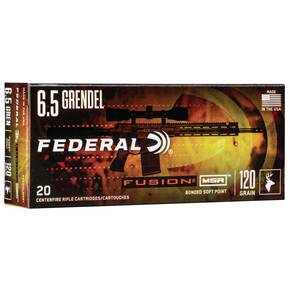 Federal Fusion Rifle Ammunition 6.5 Grendel 120gr SP 2600 Fps 20rds