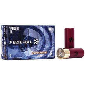 "Federal Power-Shok Shotshells 12GA 2-3/4"" 8 Pellets 1325 fps #000 5/ct"