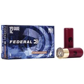 "Federal Power-Shok Shotshells 12ga 2-3/4"" 1oz 1610 fps Rifled Hollow Point Slug 5/ct"