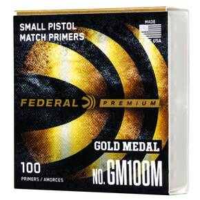 Federal Gold Medal Small Pistol Primer .100 cal 100/ct