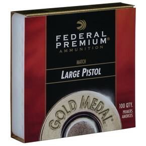 Federal Gold Medal Centerfire Large Pistol Match Primer .150 cal 100/ct
