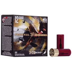 "Federal Hi-Bird Shotshells 12ga 2-3/4"" 1-1/4oz 1330 fps #4 25/ct"