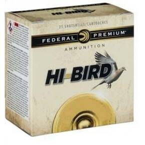 "Federal Hi-Bird Shotshells 12ga  2-3/4"" 1-1/4oz 1330 fps #8 25/ct"