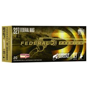 Federal Hammer Down Rifle Ammuniiton .327 Mag 115 gr SP 1650 fps 20/ct