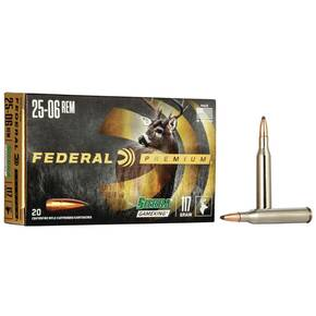 Federal Premium Sierra GameKing Rifle Ammunition .25-06 Rem 117 gr BTSP 3030 fps 20/ct