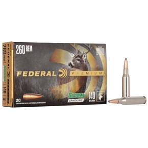 Federal Premium Sierra GameKing Rifle Ammunition 260 Rem 140 gr BTSP 2700 fps 20/ct