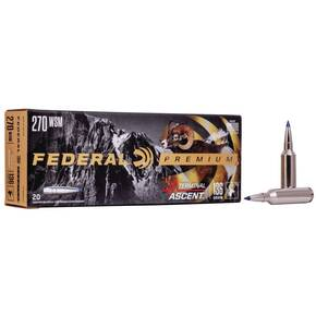 Federal Terminal Ascent Rifle Ammuntion .270 WSM 136 gr 3240 fps 20/ct