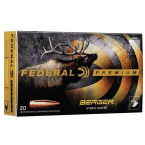Federal Classic Hunter Berger Hybrid Rifle Ammunition.280 Ackley Improved 168 gr BTHP 2800 fps 20/ct