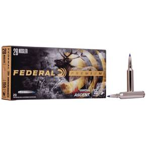 Federal Terminal Ascent Rifle Ammuntion .28 Nosler 155gr 3200 lbs 20/ct