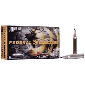 Federal Terminal Ascent Rifle Ammuntion .300 Win Mag 200 gr 2810 fps 20/ct