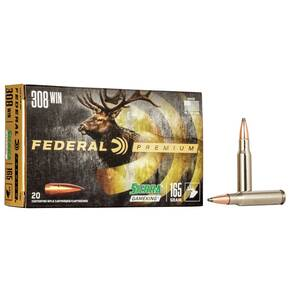 Federal Premium Sierra GameKing Rifle Ammunition .308 Win 165 gr BTSP 2700 fps 20/ct
