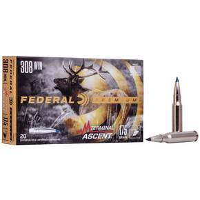Federal Terminal Ascent Rifle Ammuntion .308 Win 175 gr 2600 fps 20/ct