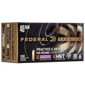 Federal Practice & Defend HST/Syntech Combo .40 S&W 180 gr 1010 fps 100/ct