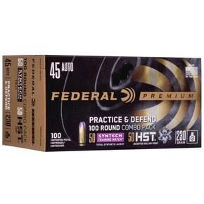 Federal Practice & Defend HST/Syntech Combo .45 ACP 230 gr 890 fps 100/ct