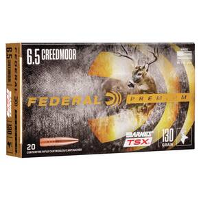 Federal Classic Hunter Barnes TSX Rifle Ammunition 6.5 Creedmoor 130 gr TSX 2825 fps 20/ct