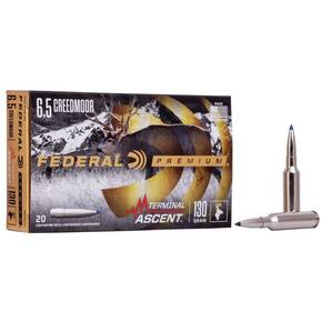 Federal Terminal Ascent Rifle Ammuntion 6.5mm Creedmoor 130 gr 2825 fps 20/ct