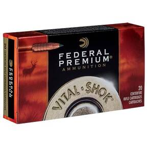 Federal Premium Vital-Shok Trophy Copper Rifle Ammunition  6.5 Creedmoor 120gr 20RD
