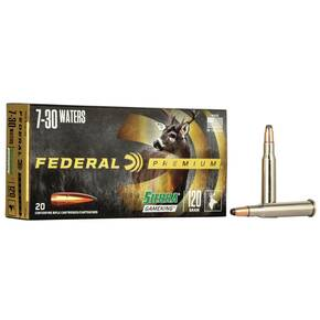 Federal Premium Sierra GameKing Rifle Ammunition 7-30 Waters 120 gr BTSP 2700 fps 20/ct