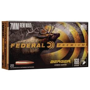 Federal Classic Hunter Berger Hybrid Rifle Ammunition  7mm Rem Mag 168 gr 2870 fps 20/ct