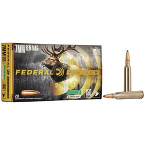 Federal Premium Sierra GameKing Rifle Ammunition 7mm Rem Mag 150 gr BTSP 3110 fps 20/ct