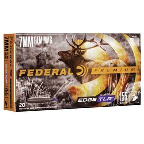 Federal Edge TLE Rifle Ammunition 7mm Rem Mag 155 gr EDGE TLR 3000 20/ct