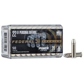 Federal Personal Defense Punch Rimfire Ammunition .22 LR PUNCH 29gr FN 1080 fps 50/ct