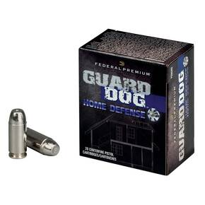 Federal Premium Guard Dog Home Defense Handgun Ammunition .40 S&W 135 gr FMJ 1200 fps 20/box