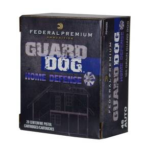Federal Premium Guard Dog Home Defense Handgun Ammunition .45 ACP 165 gr FMJ 1140 fps 20/box
