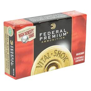Federal Vitial Shok Shotgun Ammunition 12 ga 2-3/4  9,00 Buck 5/box