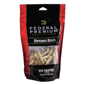 Federal Premium Unprimed Brass Rifle Cartridge Cases .224 Valkyrie 100/bag