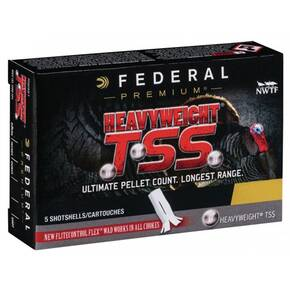 "Federal Heavyweight TSS Shotshells 20ga 3"" 1-5/8oz 1000 fps #8, #10 5/ct"
