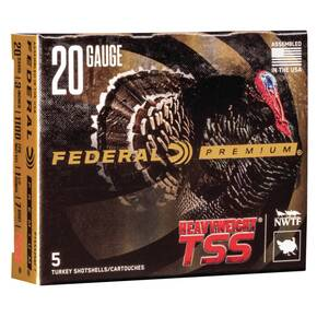 "Federal Heavyweight TSS 20ga 3"" 1-1/2oz 1100 fps #7 5/ct"