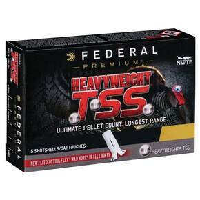 "Federal Heavyweight TSS Shotshells 20ga 3"" 1-5/8 oz  #7,9 1000 fps 5rds"