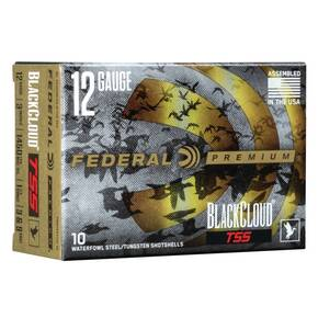 "Federal Black Cloud TSS Shotshells 12ga 3"" 1-1/4 oz 1450 fps #3,#9 10/ct"