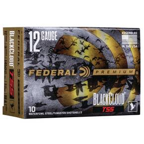 "Federal Black Cloud TSS Shotshells 12ga 3"" 1-1/4oz 1450 fps #BB, #7 10/ct"