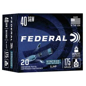 Federal  Syntech Defense Handgun Ammunition .40 S&W SJHP 1050 fps 20/ct