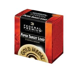 "Federal Gold Medal Paper Shotshells 12 ga 2-3/4"" 2-3/4 dr 1-1/8 oz 1145 fps #8 25/ct"