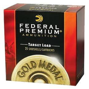 "Federal Gold Medal Plastic Shotshells 28ga 2-3/4"" 3/4oz 1230 fps #9 25/ct"