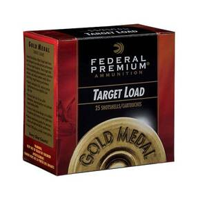 Federal Gold Medal Target Shotshells 12ga 2-3/4 1oz  #7.5 1180 fps 25/ct