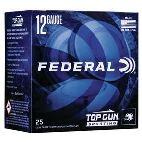 "Federal Top Gun Sporting Shotshells 12ga 2-3/4"" 1 oz 1330 fps #8 25/ct"