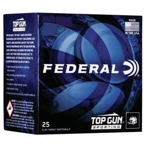 "Federal Top Gun Sporting Shotshells 28ga 2-3/4"" 3/4 oz 1330 fps #8 25/ct"
