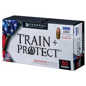 Federal Train+Protect Handgun Ammunition  9mm Luger 115gr VHP 100/ct