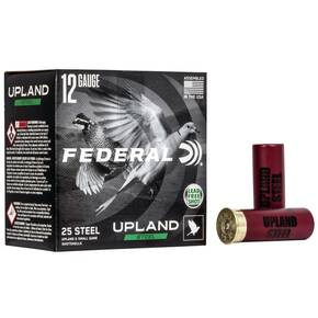 "Federal Upland Steel Shotshell 12 ga 2-3/4"" 1oz 1400 fps #6 25/ct"