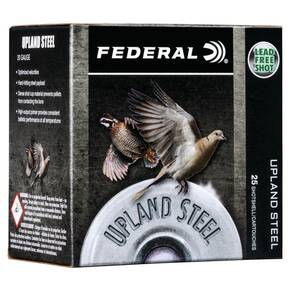 "Federal Upland Steel Shotshells 20ga 2-3/4"" 7/8 oz 1500 fps #7.5 25/ct"